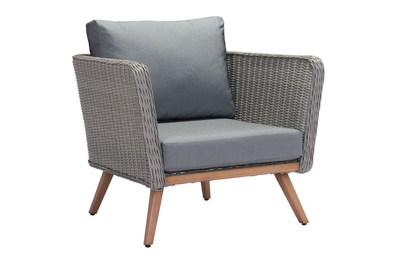 Tiali Outdoor Arm Chair Gray