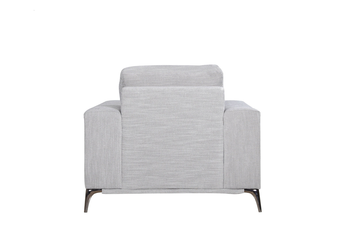 Clarus Arm Chair Silver