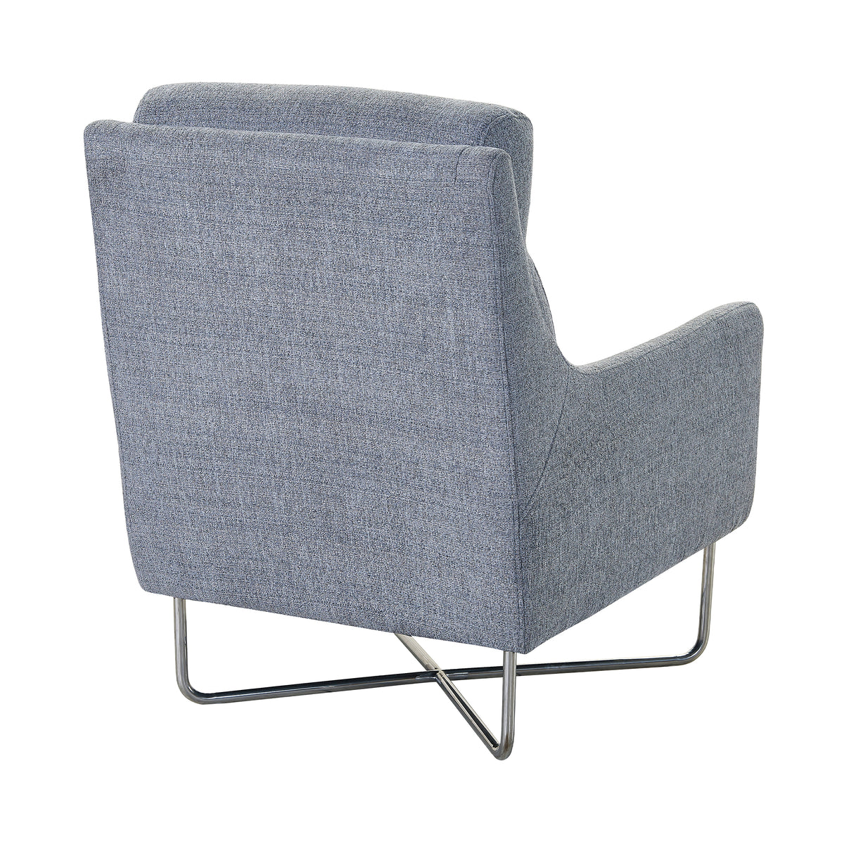 Ceni Graphite Arm Chair with Metal Base