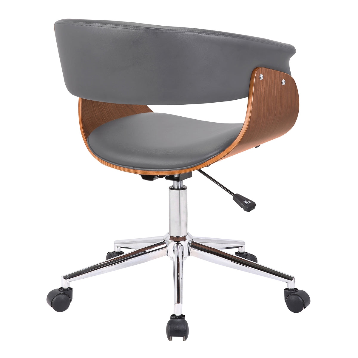 Nord Office Chair Gray and Walnut