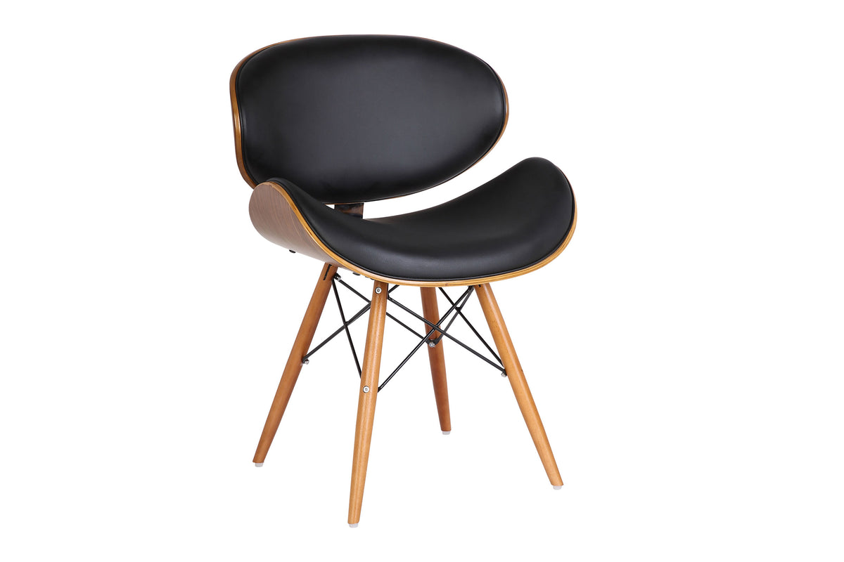 Anco Dining Chair Black and Walnut