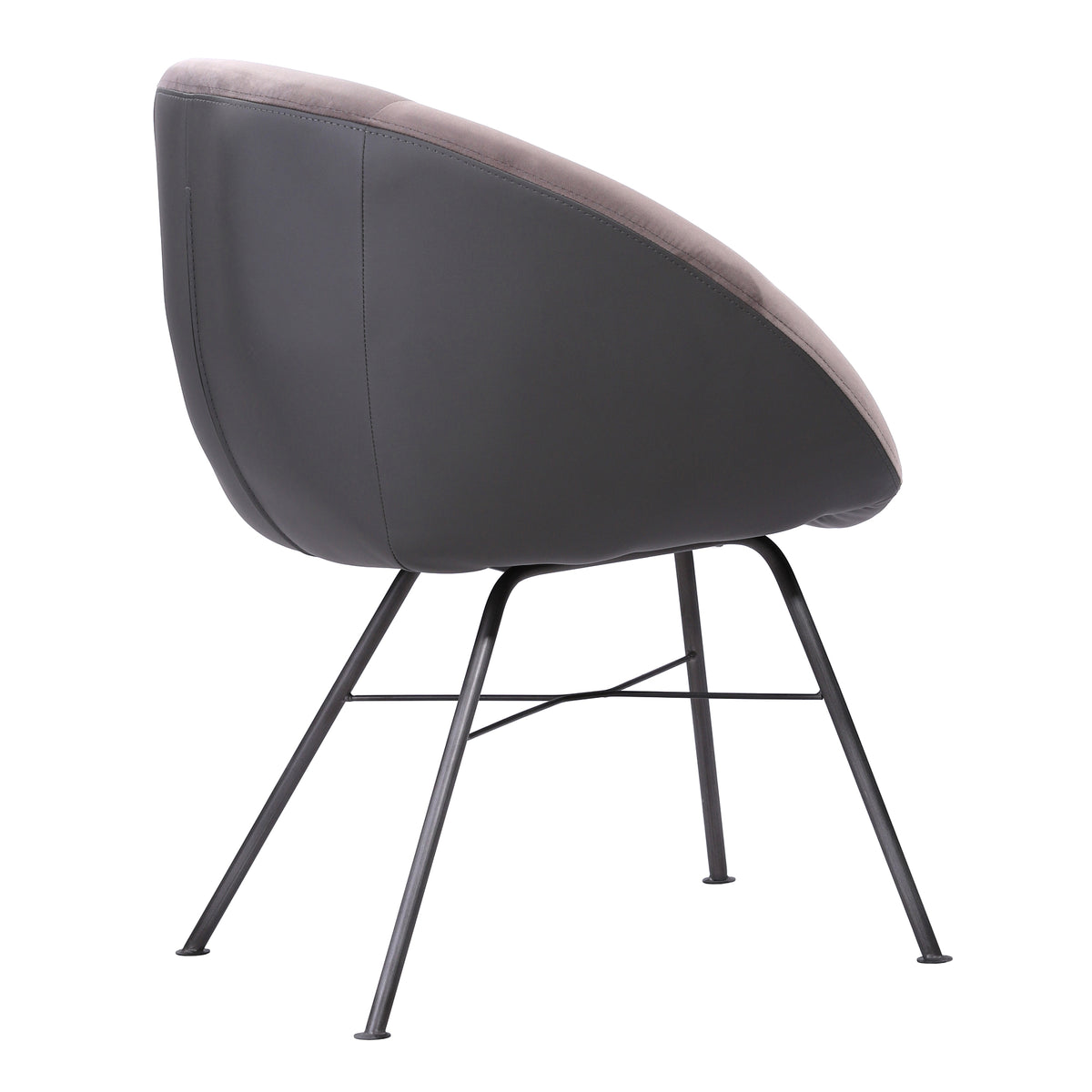 Angle Velvet Dining Chair
