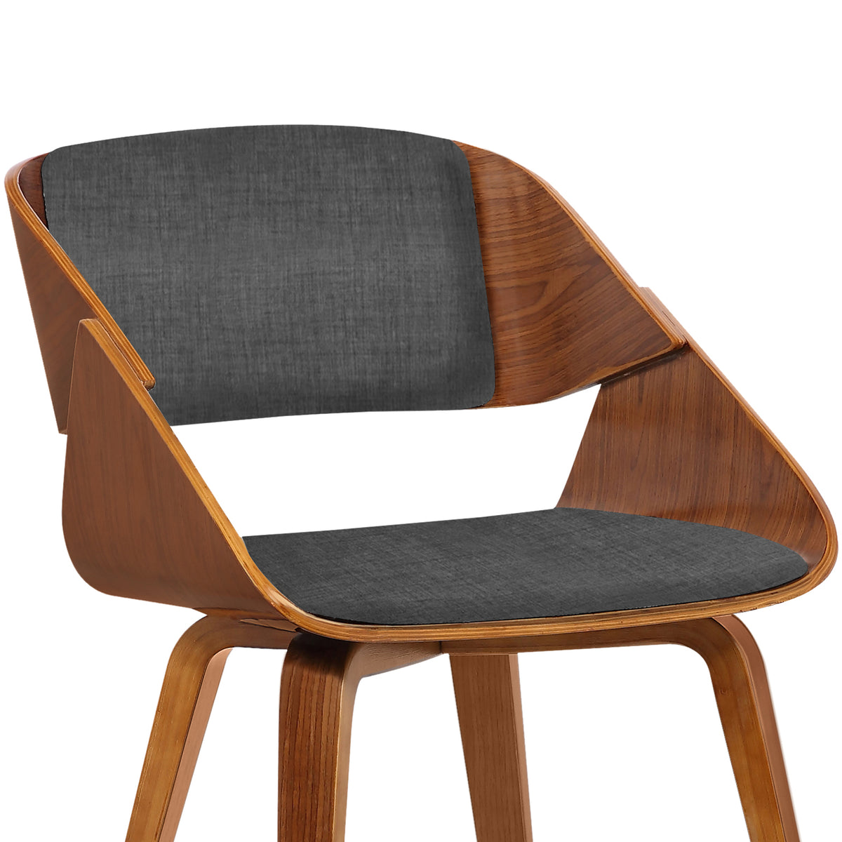 Nord Dining Chair Charcoal and Walnut
