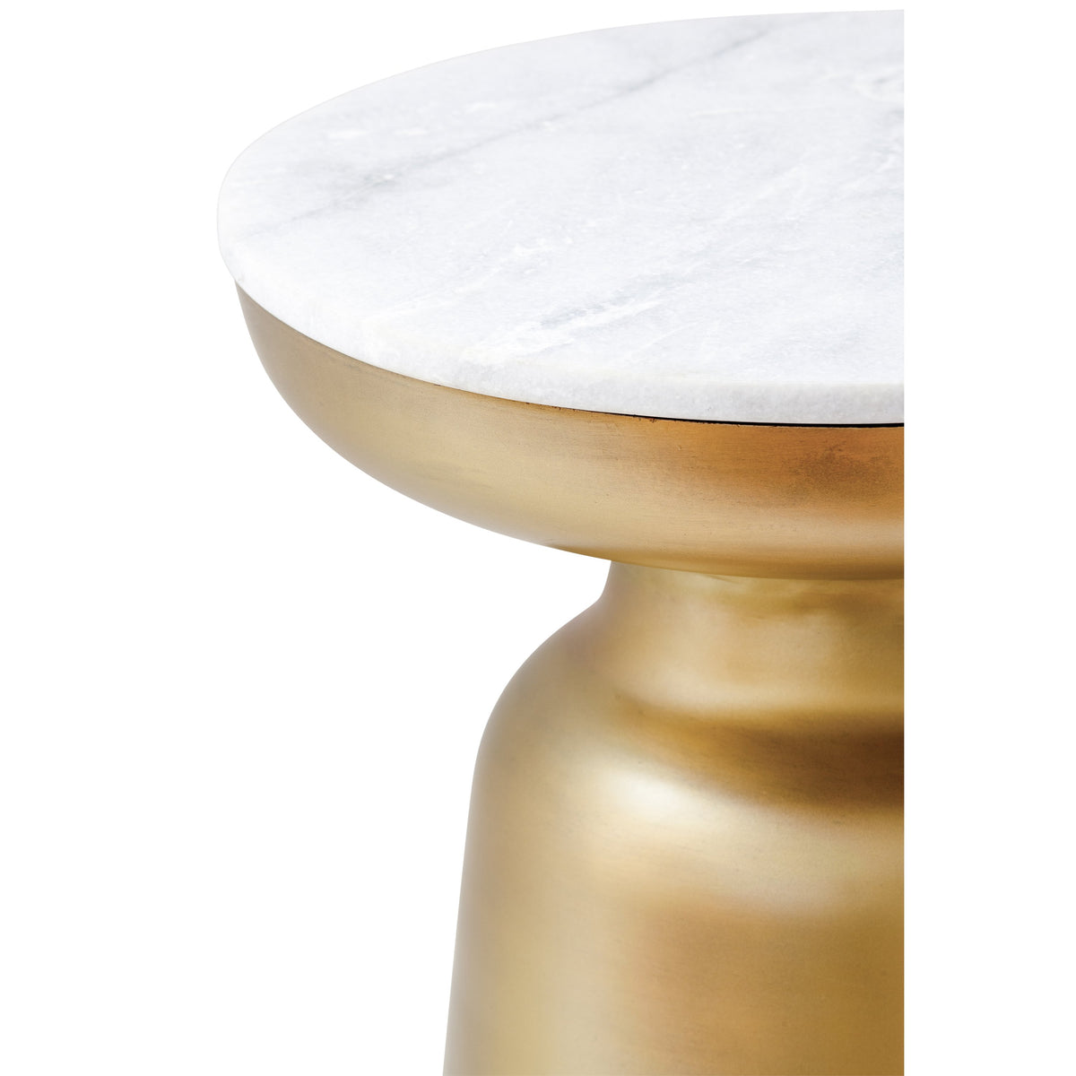 Zen End Table Marble & Brass