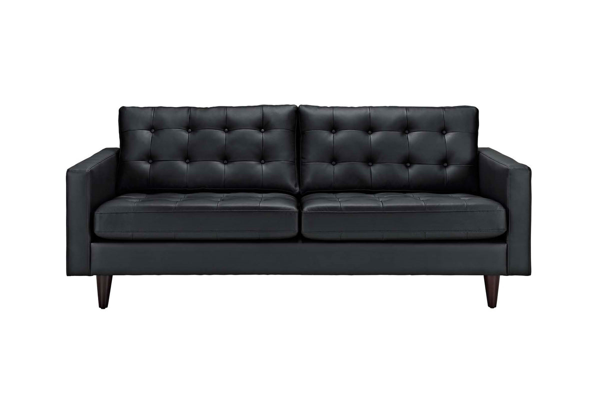 Alto Bonded Leather Sofa Black