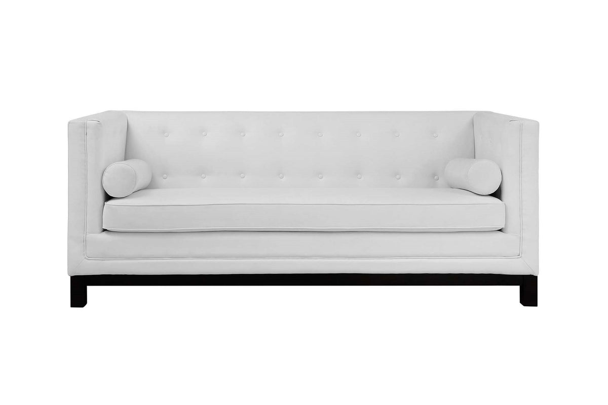 Positano Bonded Leather Sofa White