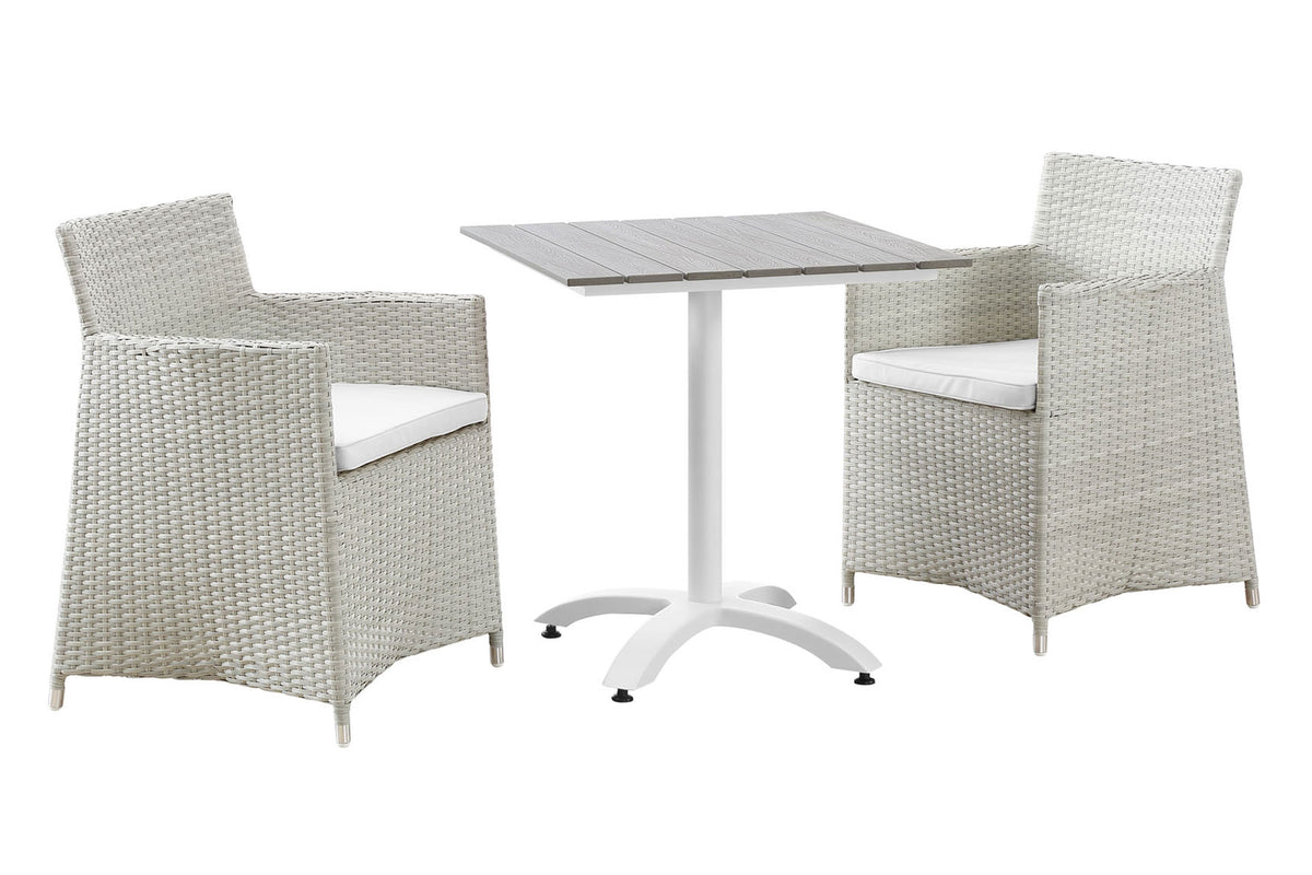 Hermm Outdoor Set Gray White