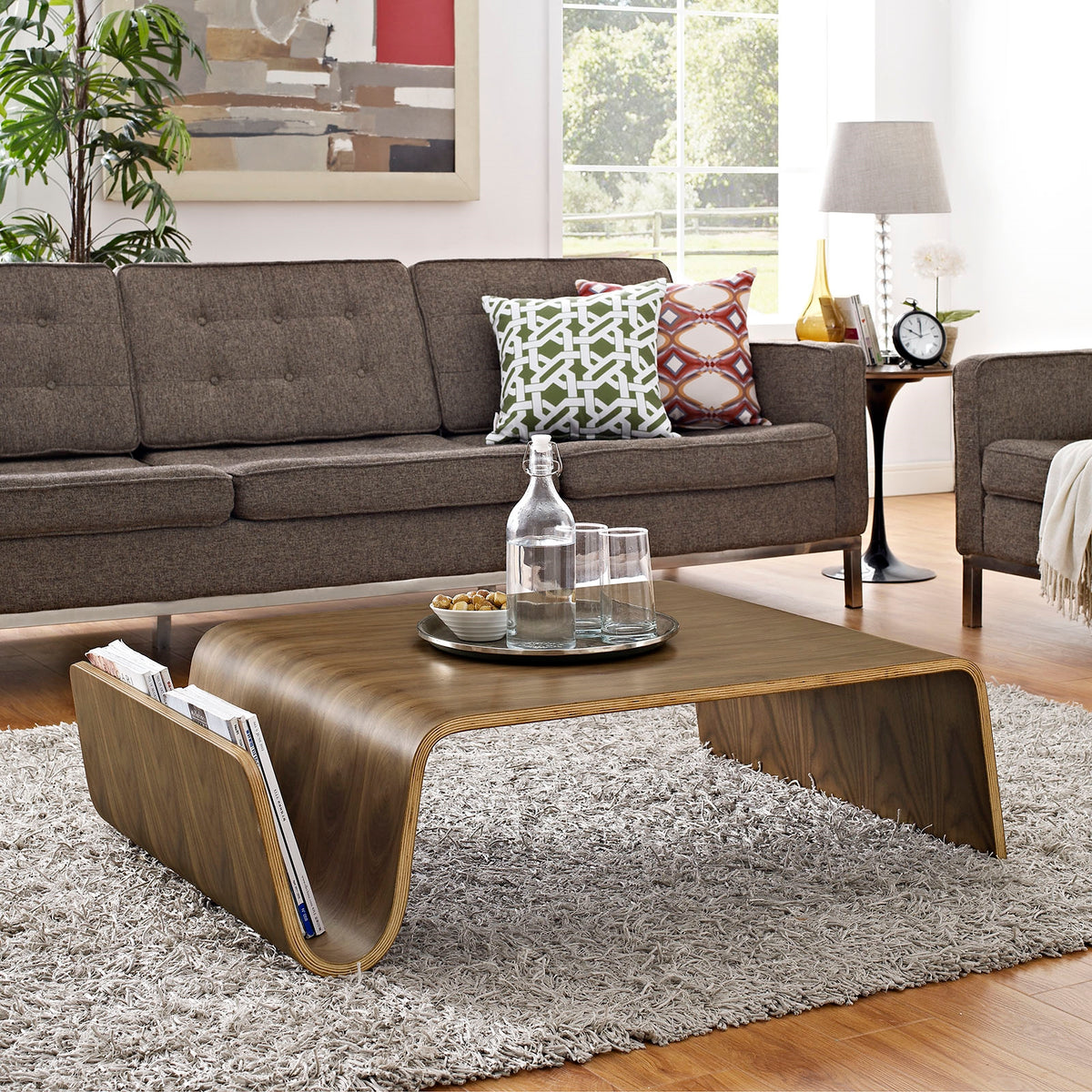 Claud Wood Coffee Table in Walnut