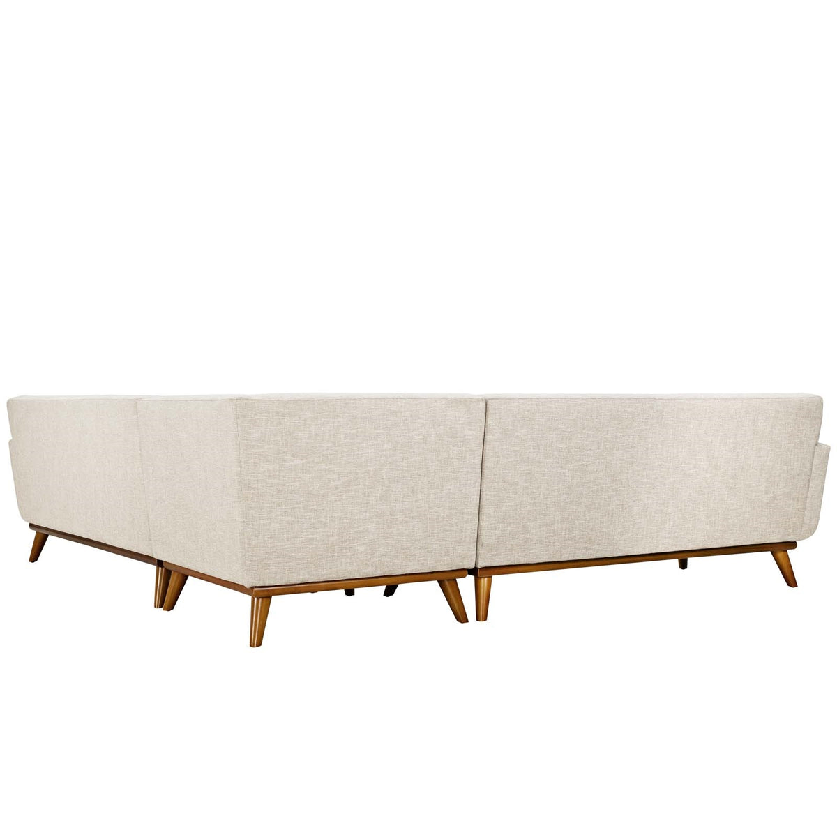 Oska L-Shaped Sectional Sofa Beige