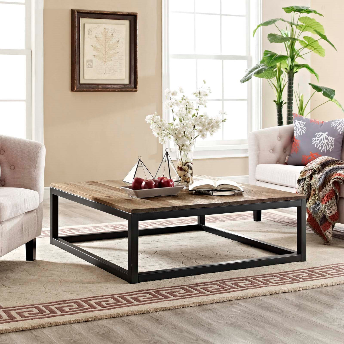 Oliver Large Coffee Table Brown