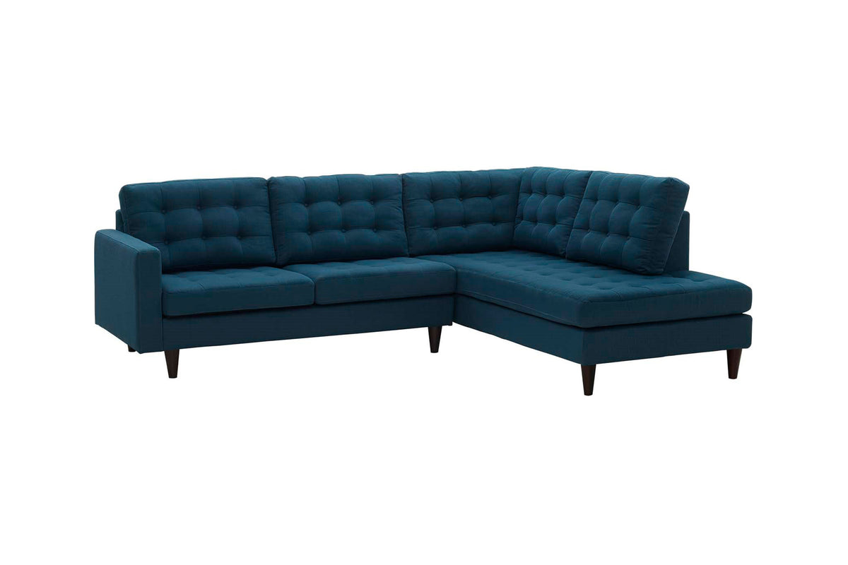 Tati 2 Piece Upholstered Sectional Navy