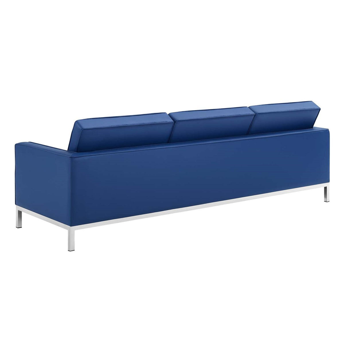Valencia Sofa Faux Leather Navy