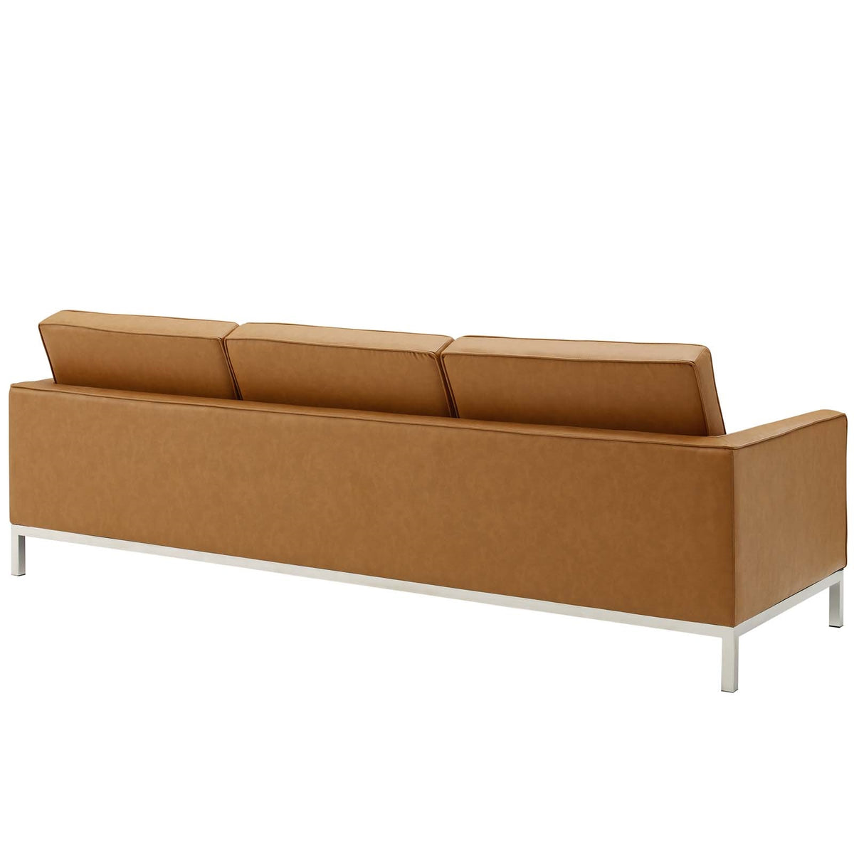 Valencia Sofa Faux Leather Tan