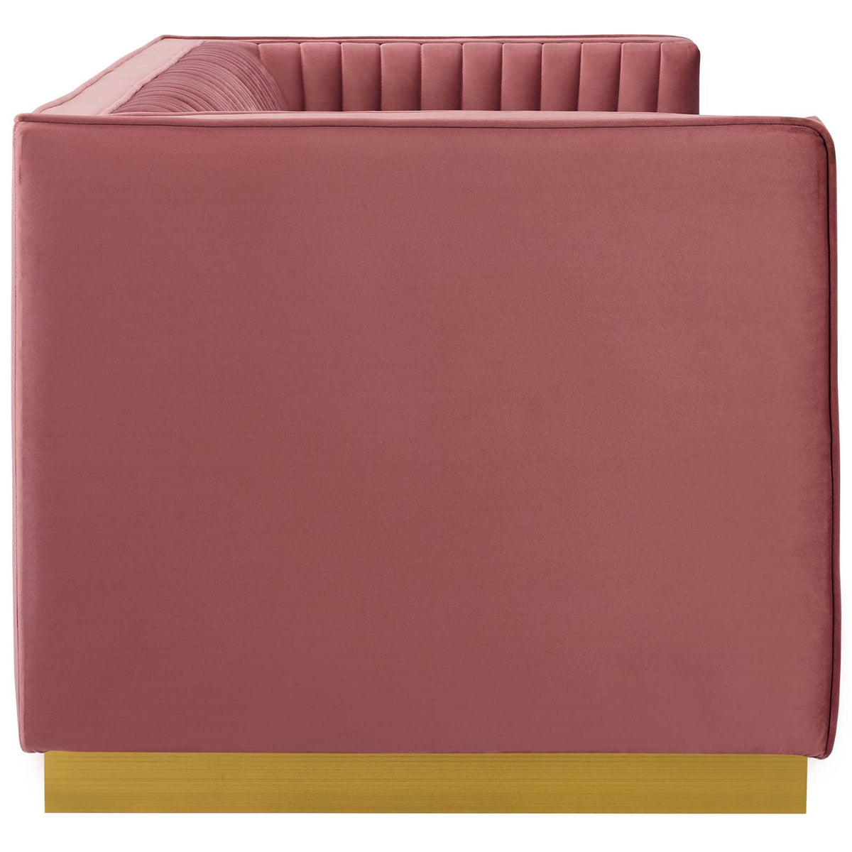 Tuulia Velvet Sofa Dusty Rose