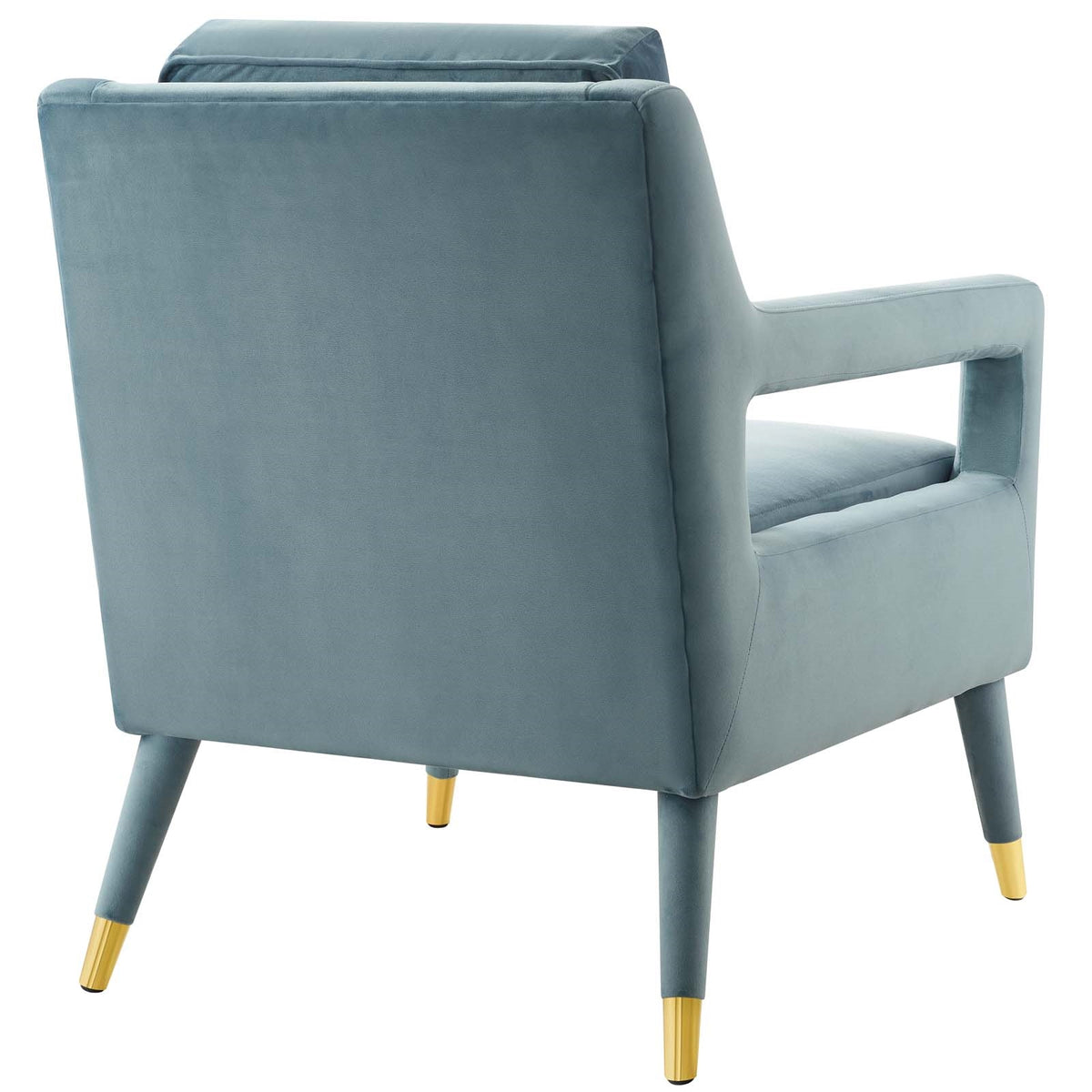 Cecilia Velvet Armchair Light Blue