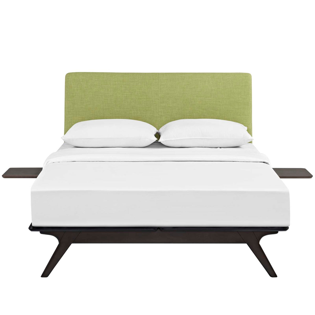 Lovo Queen Bed Set Capuccino Green