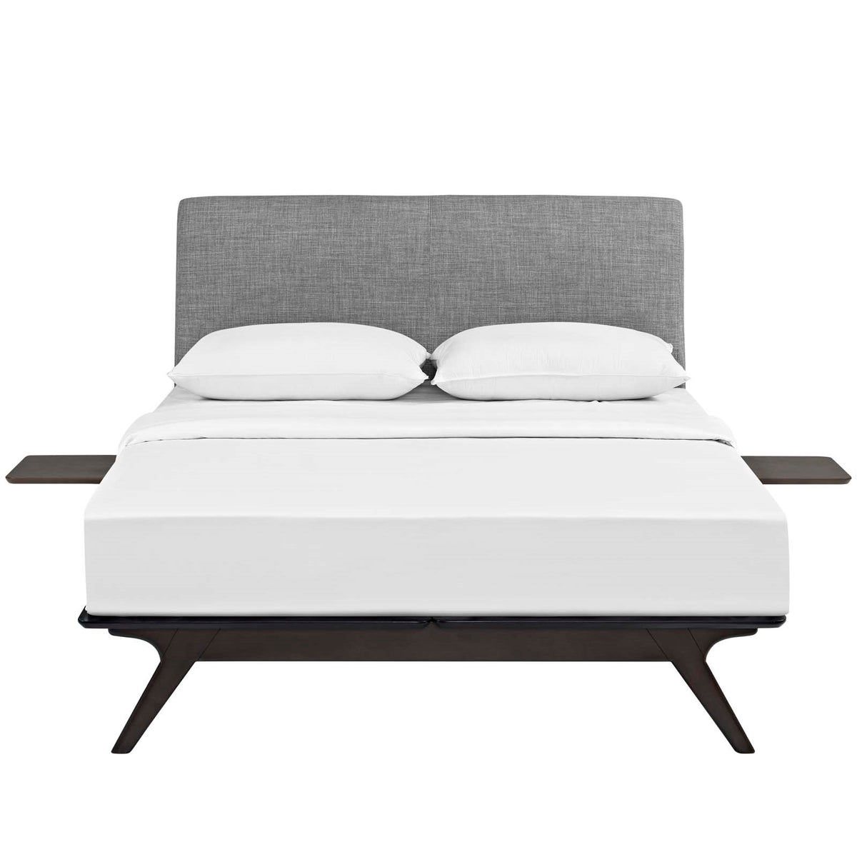 Lovo Queen Bed Set Capuccino Gray