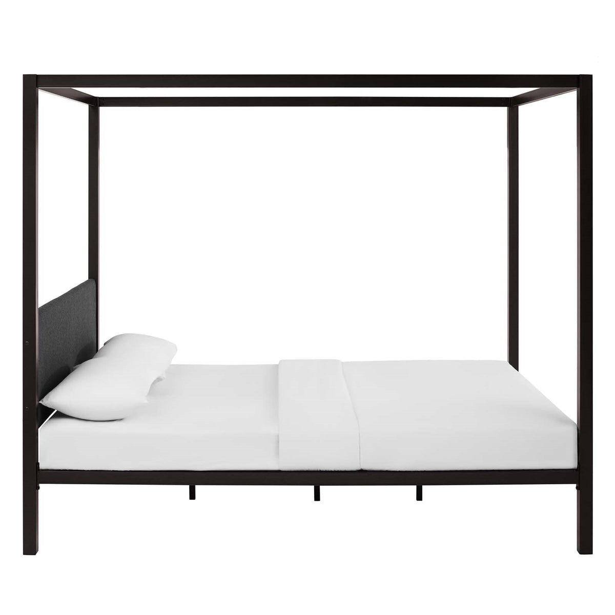 Nexo Canopy Queen Bed Gray