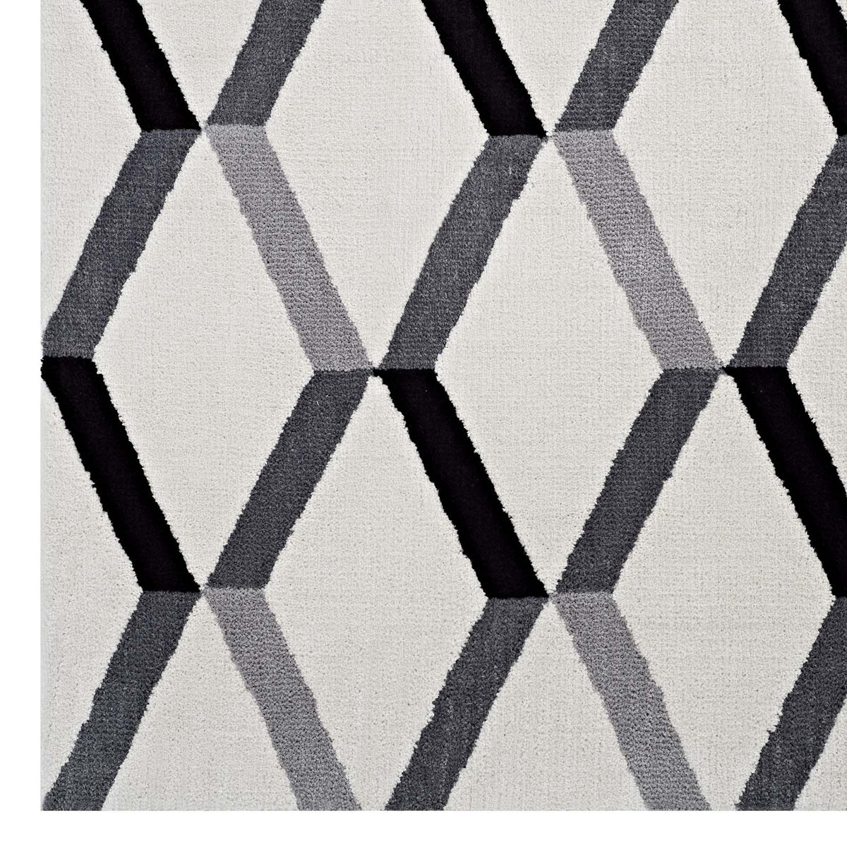 Kuali 8x10 Geometric Area Rug Black & White