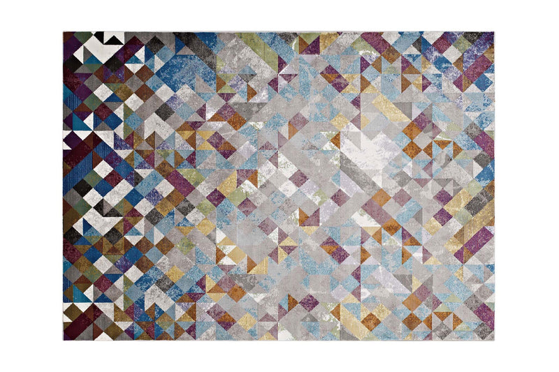 Azquel 8x10 Triangle Area Rug Multicolor