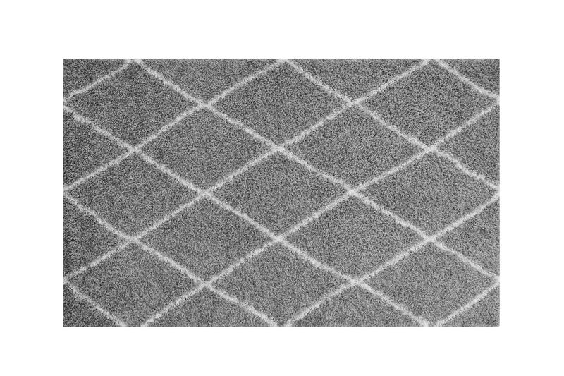 Buken 8x10 Diamond Area Rug Gray