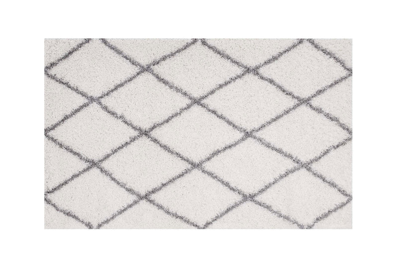 Buken 8x10 Diamond Area Rug Ivory