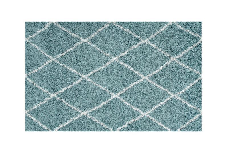 Buken 8x10 Diamond Area Rug Teal