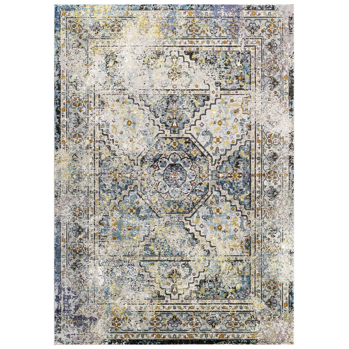 Pinole 8x10 Distressed Vintage Persian Area Rug