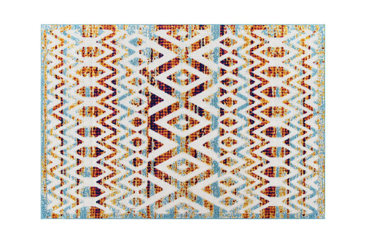 Serul 5x8 Diamond Area Rug Multicolor
