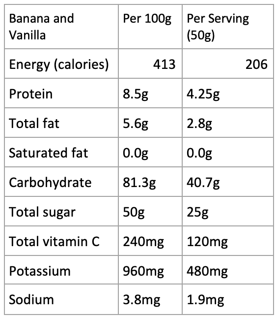 Banana and Vanilla Smoothie Powder - 500g
