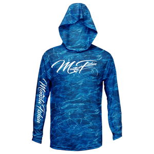 Ocean Blue Hooded Performance