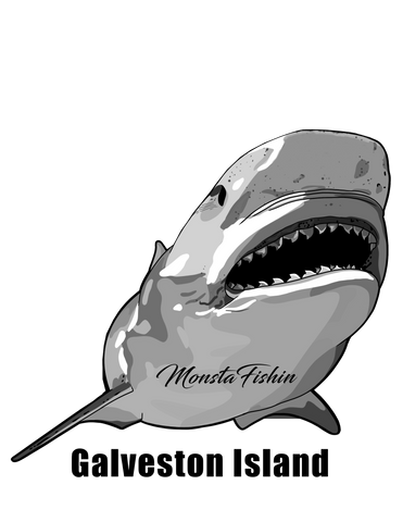 "Shark Decal 5""x5"" (Galveston Island)"