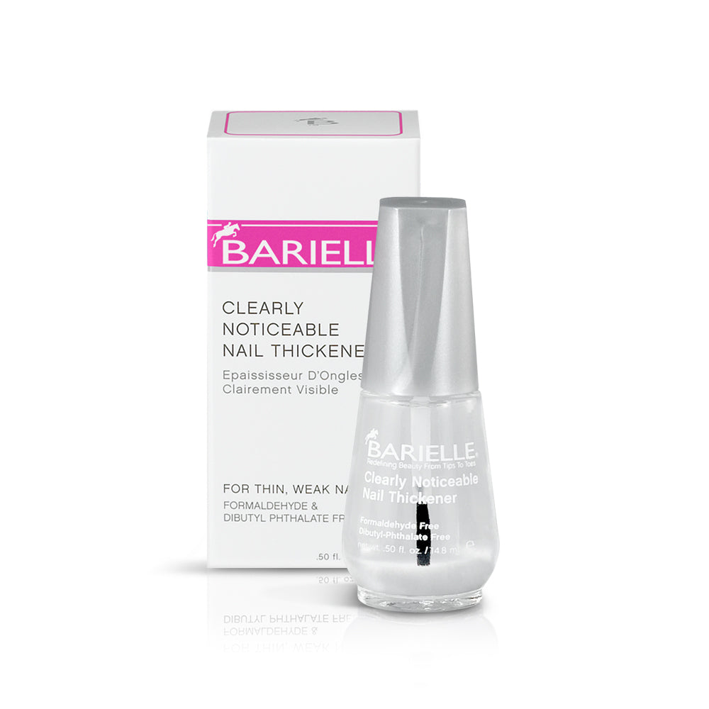 Barielle Clearly Noticeable Nail Thickener is an effective nail treatment to build stronger, thicker nails. Nail are instantly thickened by up to 50% after one use.