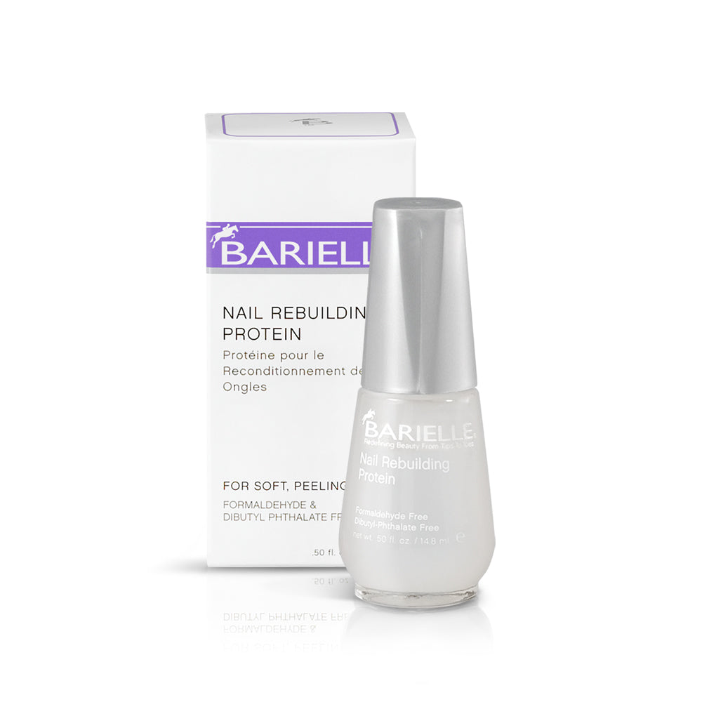 Barielle Nail Rebuilding Protein is a strengthening base coat and nail treatment to treat soft, thin and peeling nails.