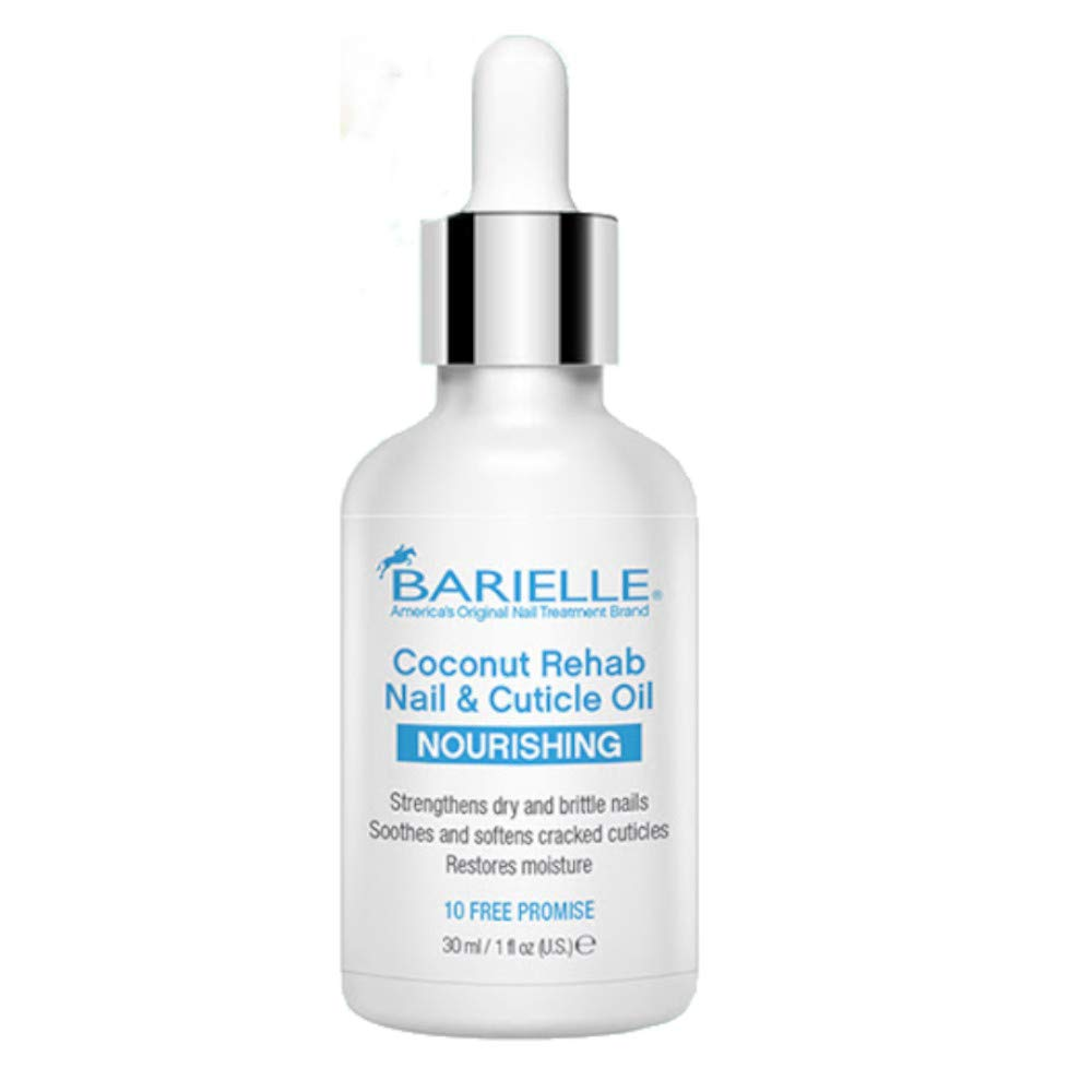 Barielle Coconut Rehab Nail and Cuticle Oil 1oz AND Barielle Cuticle Remover 4 oz. 2-PC Combo - Barielle - America's Original Nail Treatment Brand