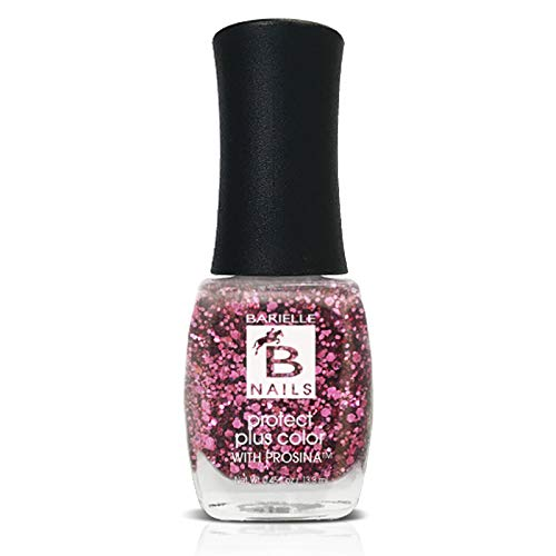 Princess Pink (A Sparkly Pink Glitter) - Protect+ Nail Color w/ Prosina - Barielle - America's Original Nail Treatment Brand