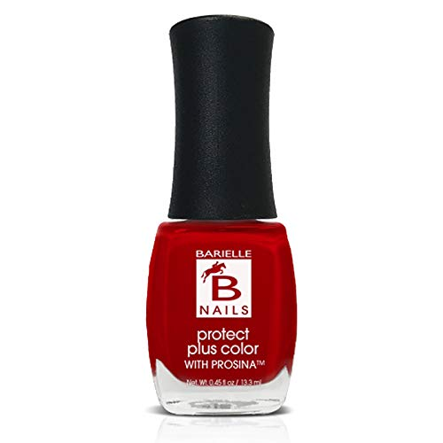 Blushing Beauty (Creamy Bright Red) - Protect+ Nail Color w/ Prosina - Barielle - America's Original Nail Treatment Brand