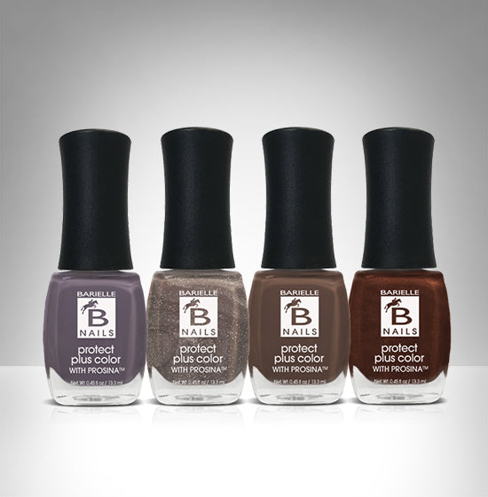 Barielle Bittersweet Chocolate Day 4-PC Nail Polish Set - Barielle - America's Original Nail Treatment Brand