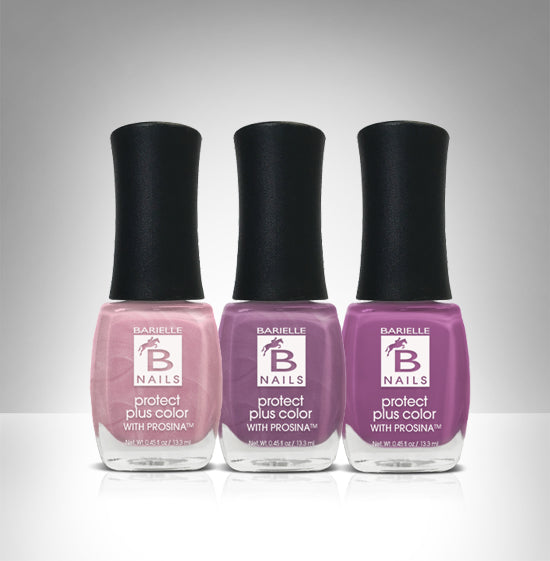 Barielle Lavish Lavender 3-Piece Nail Polish Collection - Barielle - America's Original Nail Treatment Brand