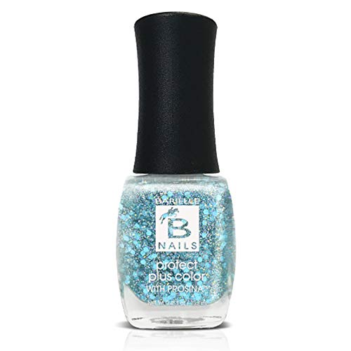 Mermaid's Fin (An Aqua Iridescent Glitter) - Protect+ Nail Color w/ Prosina - Barielle - America's Original Nail Treatment Brand
