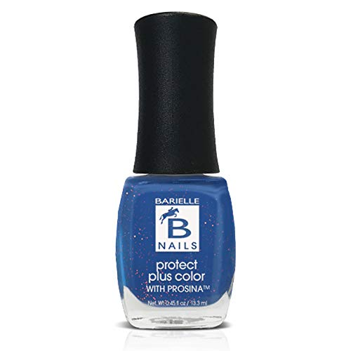 Falling Star (A  Marine Blue w/ Gold Glitter) - Protect+ Nail Color w/ Prosina - Barielle - America's Original Nail Treatment Brand