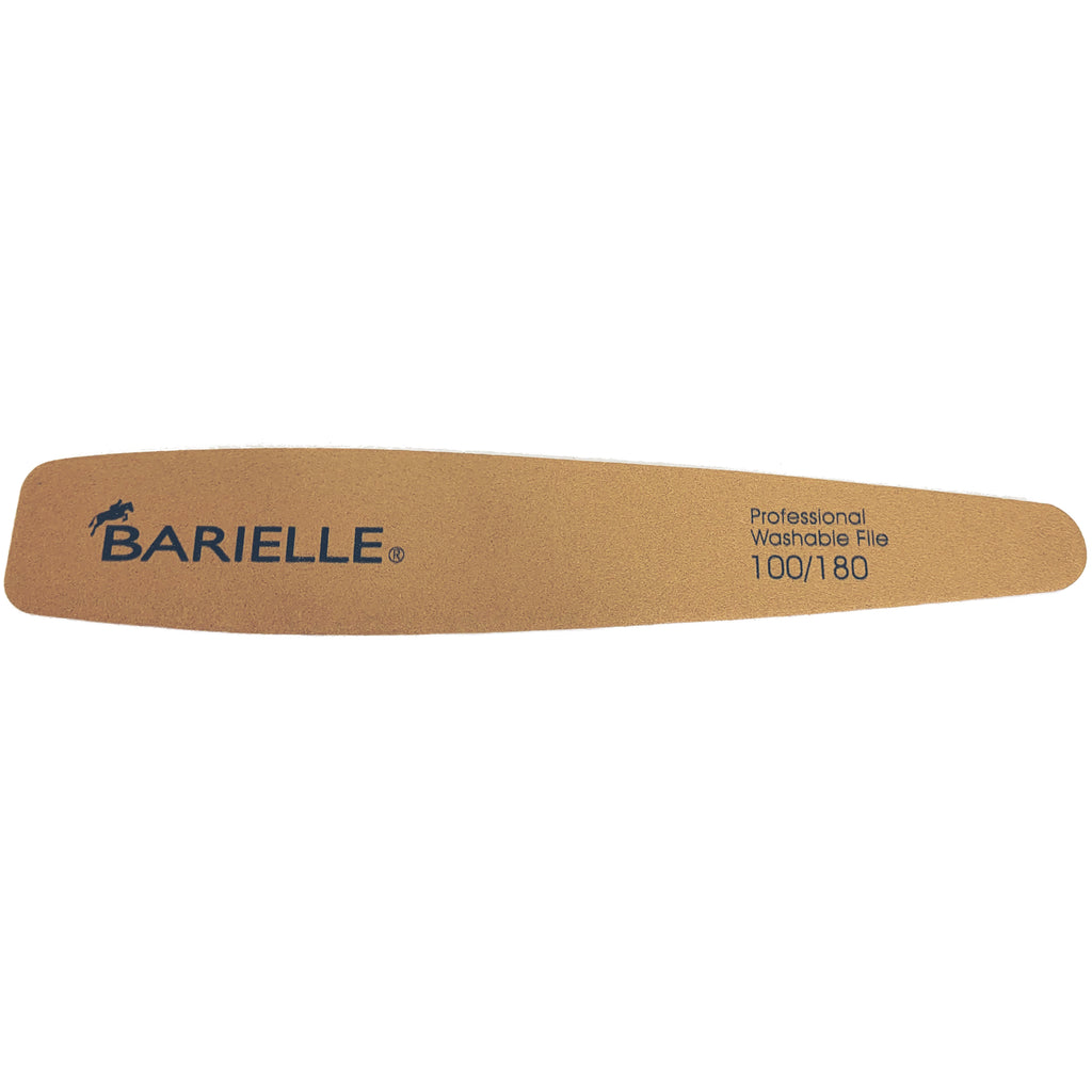 Barielle Washable and Reusable Nail Files 100.180 Grit - Brown/Green (6 PACK) - Professional Nail Files, Double Sided Emery Board for Long Lasting Manicure/Pedicure Finish - Barielle - America's Original Nail Treatment Brand