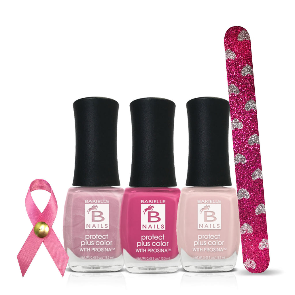 Barielle Breast Cancer Awareness Bundle + Free Nail File - Barielle - America's Original Nail Treatment Brand