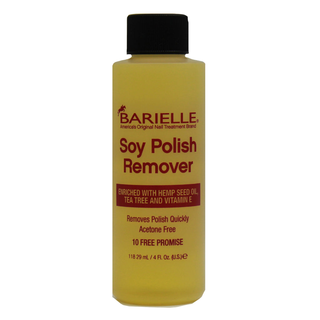 Barielle Acetone Free Soy Nail Polish Remover with Hemp Seed Oil 4 oz. - Barielle - America's Original Nail Treatment Brand