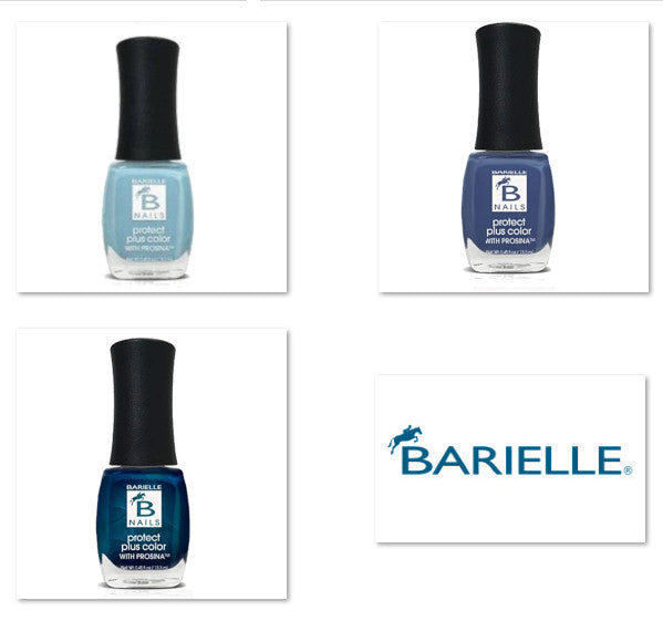 Barielle Protect Plus Nail Polish - Brilliant Blue 6-PC Collection: 6 Assorted Blue Nail Color Shades - Barielle - America's Original Nail Treatment Brand