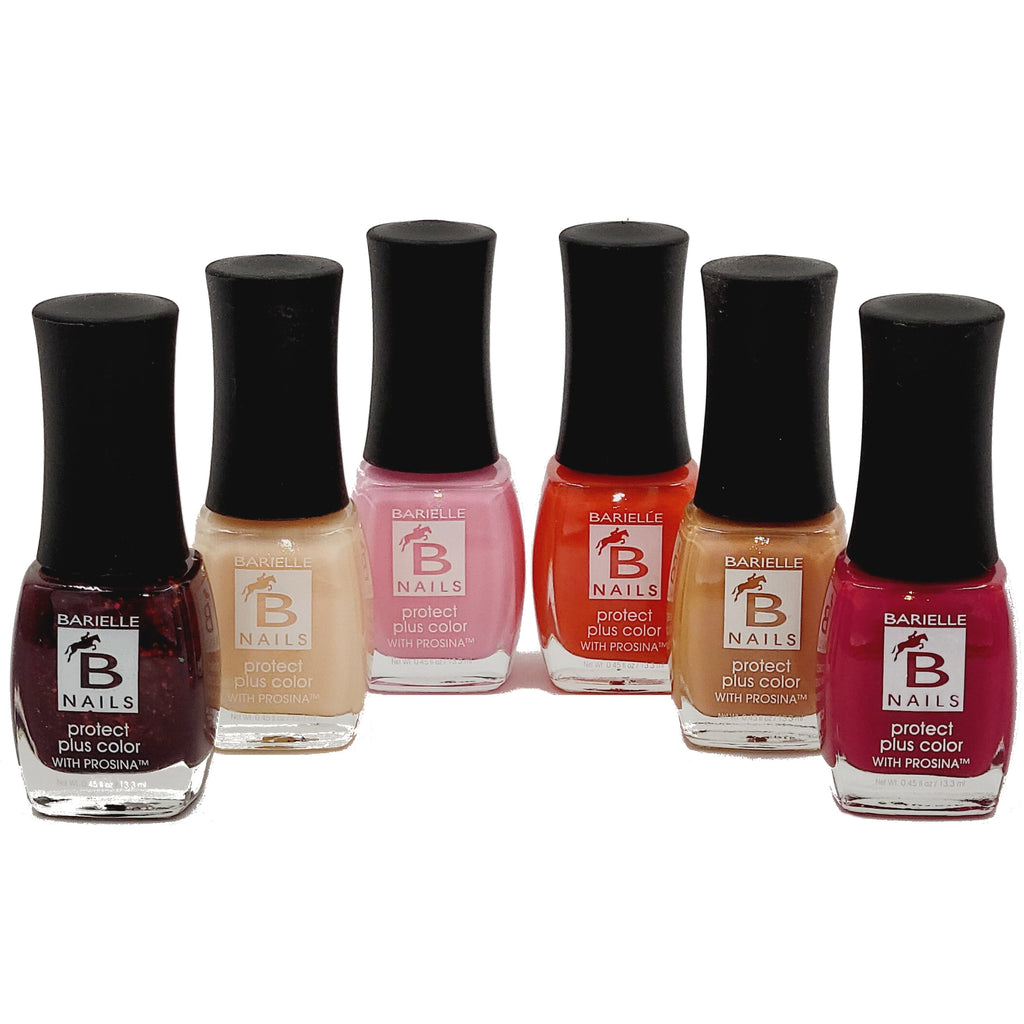 Barielle 6-PC Painters Pallet Protect+ Nail Polish Set- Reds, Pinks and Nude Nail Colors