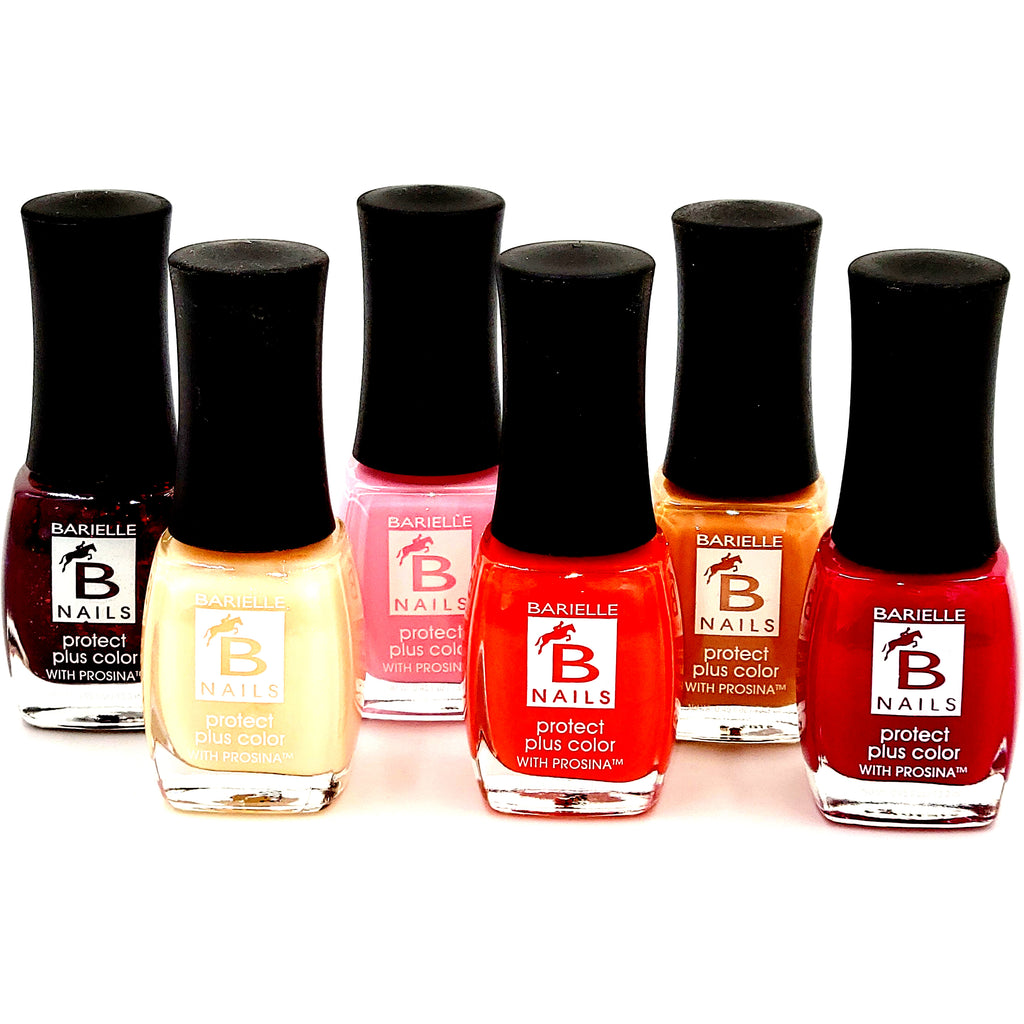 Barielle 6-PC Painters Pallet Protect+ Nail Polish Set- Reds, Pinks and Nude Nail Colors - Barielle - America's Original Nail Treatment Brand