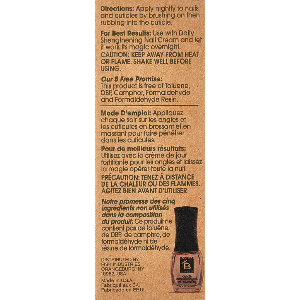Barielle Cuticle Conditioning Oil w/Almond Oil .45 oz. - Barielle - America's Original Nail Treatment Brand