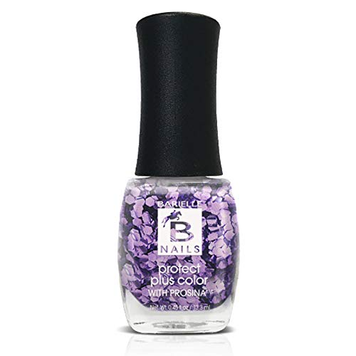 Amethyst (A Purple Glitter) - Protect+ Nail Color w/ Prosina - Barielle - America's Original Nail Treatment Brand