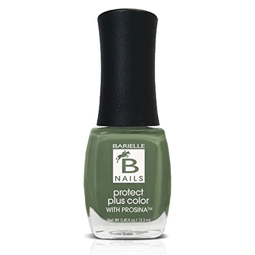 Irish Eyes (A Creamy Moss Green) - Protect+ Nail Color w/ Prosina - Barielle - America's Original Nail Treatment Brand